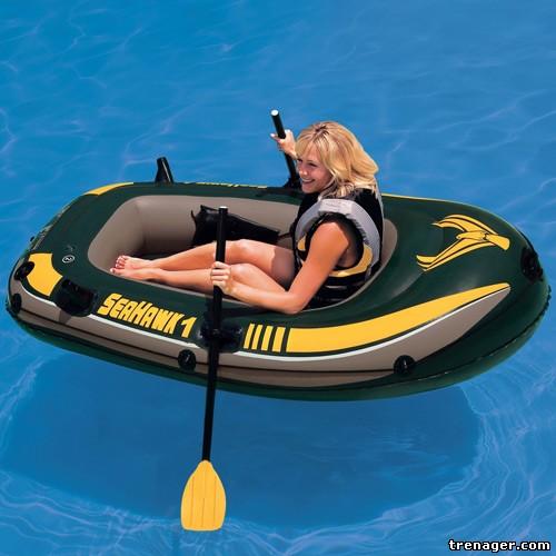 надувные лодки интекс с электромотором